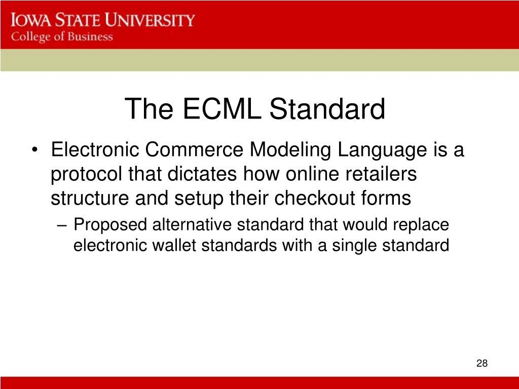 The ECML Standard