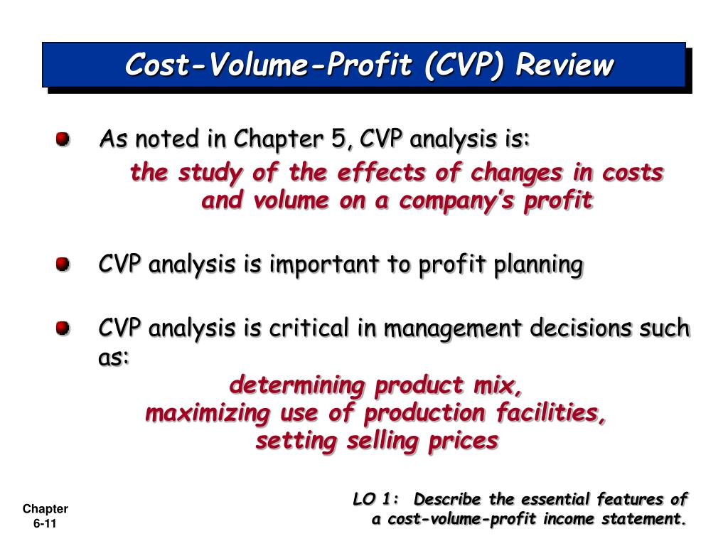 cost volume profit cvp analysis Cost-volume-profit (cvp) analysis is one of the major tools of financial analysis  managers use the contribution margin to plan for the business.