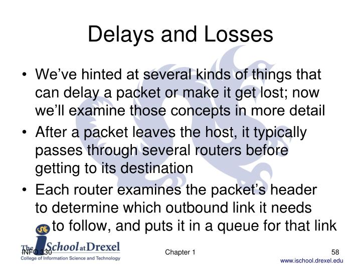 Delays and Losses