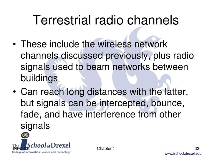 Terrestrial radio channels