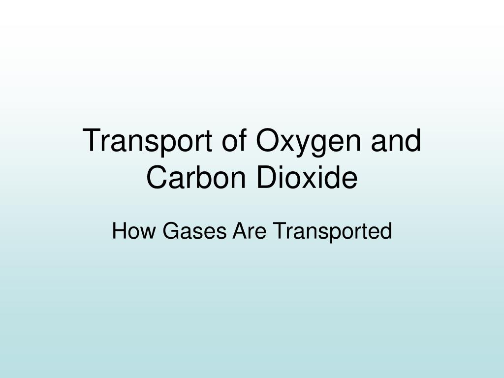 Transport of Oxygen and Carbon Dioxide
