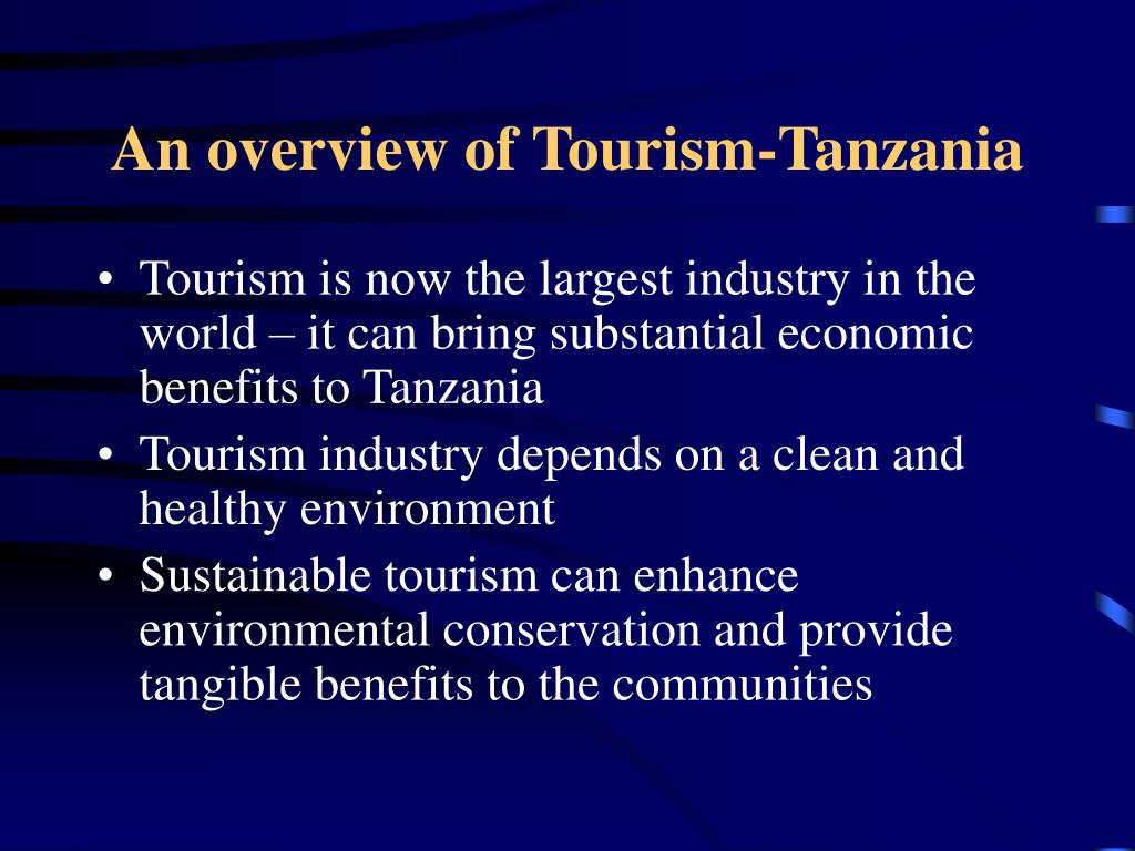 An overview of Tourism-Tanzania
