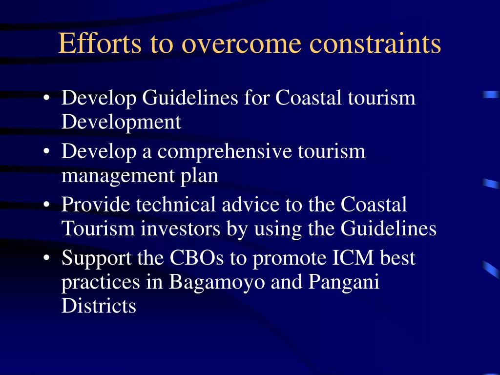 Efforts to overcome constraints