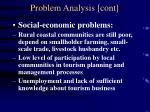 problem analysis cont