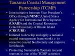 tanzania coastal management partnership tcmp