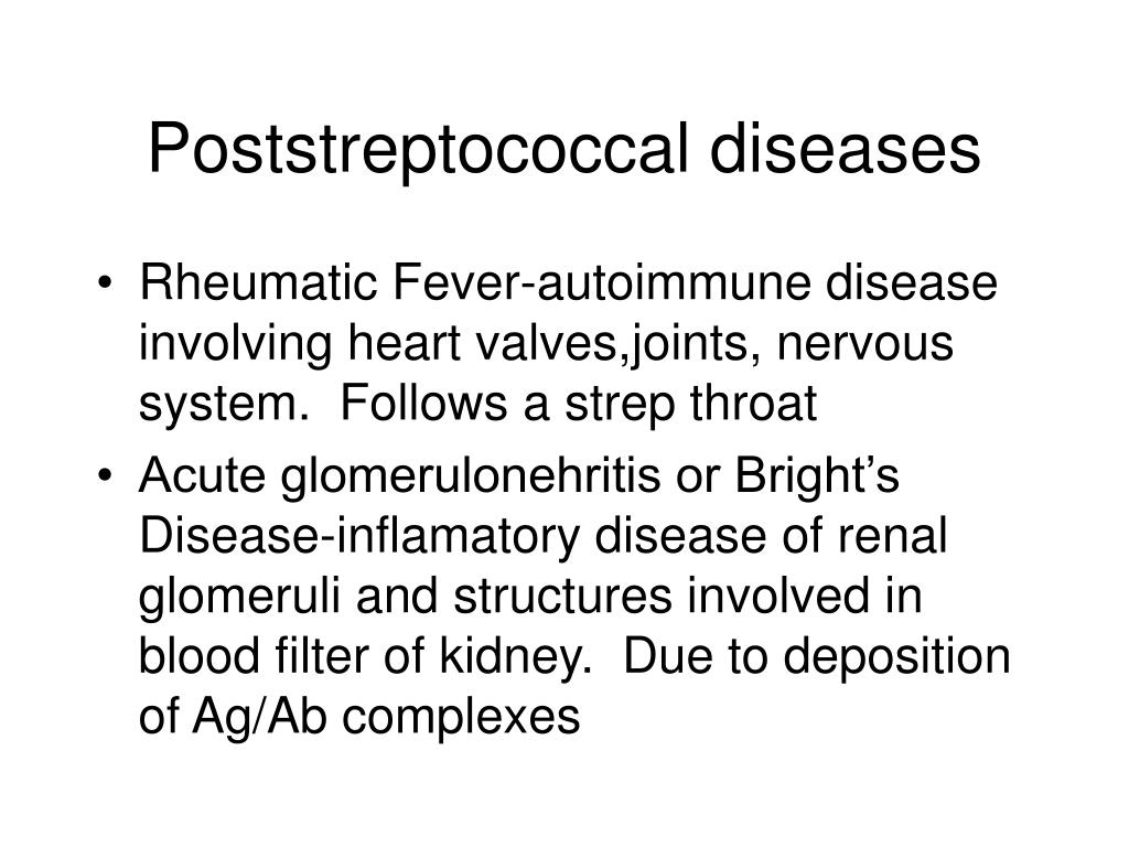 Poststreptococcal diseases