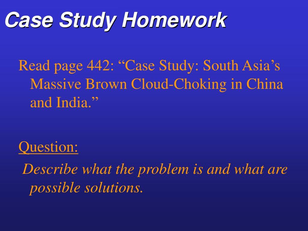 Case Study Homework