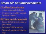clean air act improvements