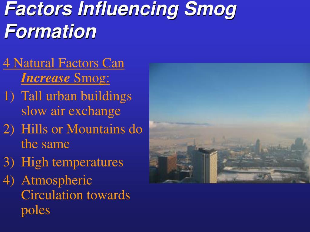 Factors Influencing Smog Formation