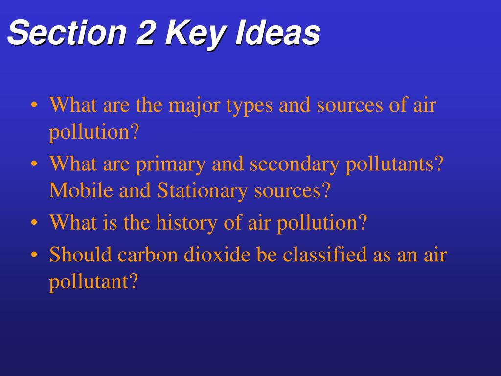 Section 2 Key Ideas