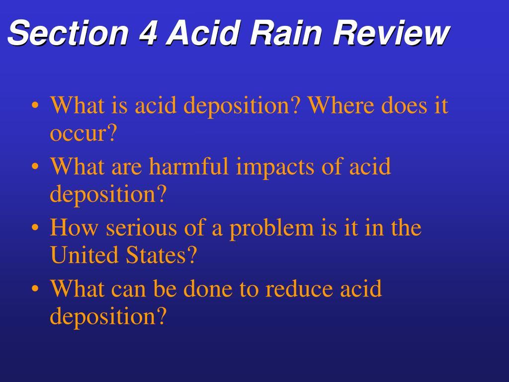 Section 4 Acid Rain Review