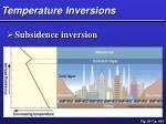 temperature inversions37