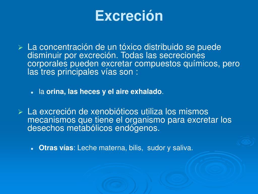Excreción