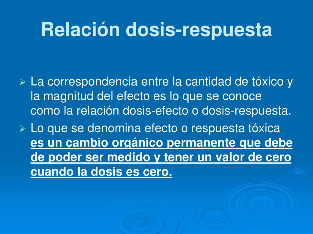 Relación dosis-respuesta