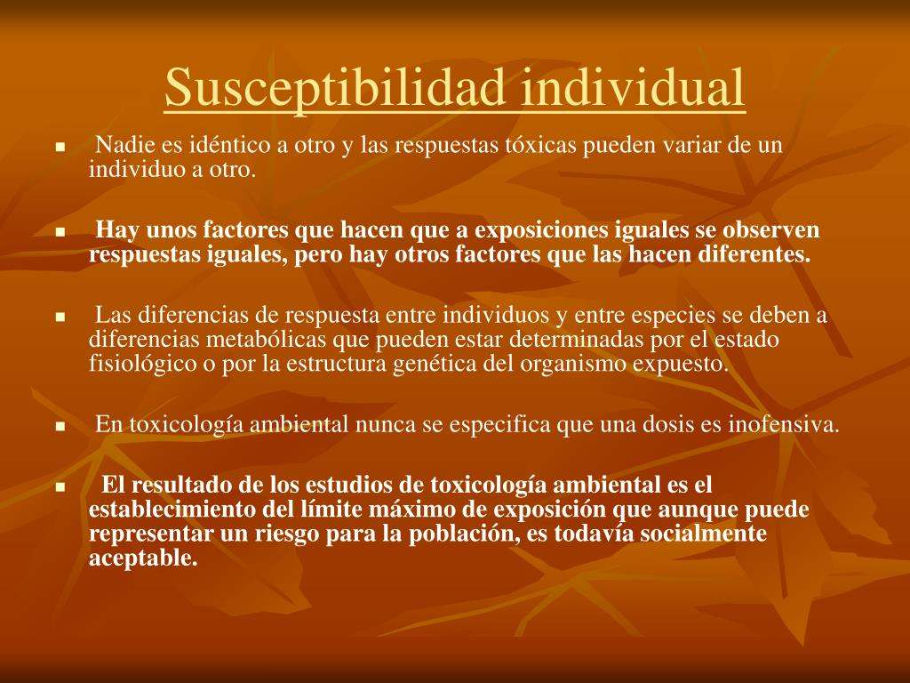 Susceptibilidad individual