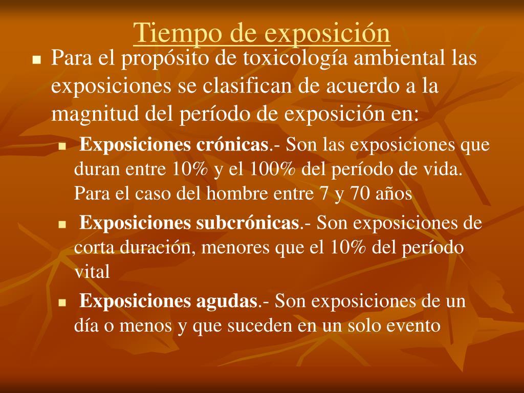 Tiempo de exposición