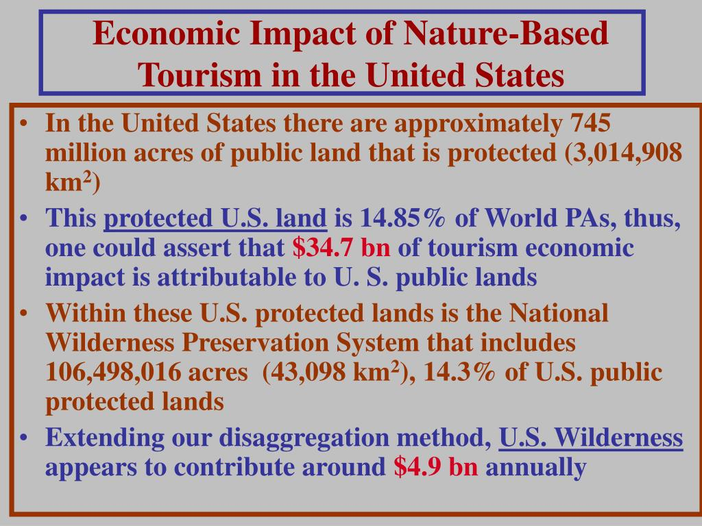Economic Impact of Nature-Based Tourism in the United States