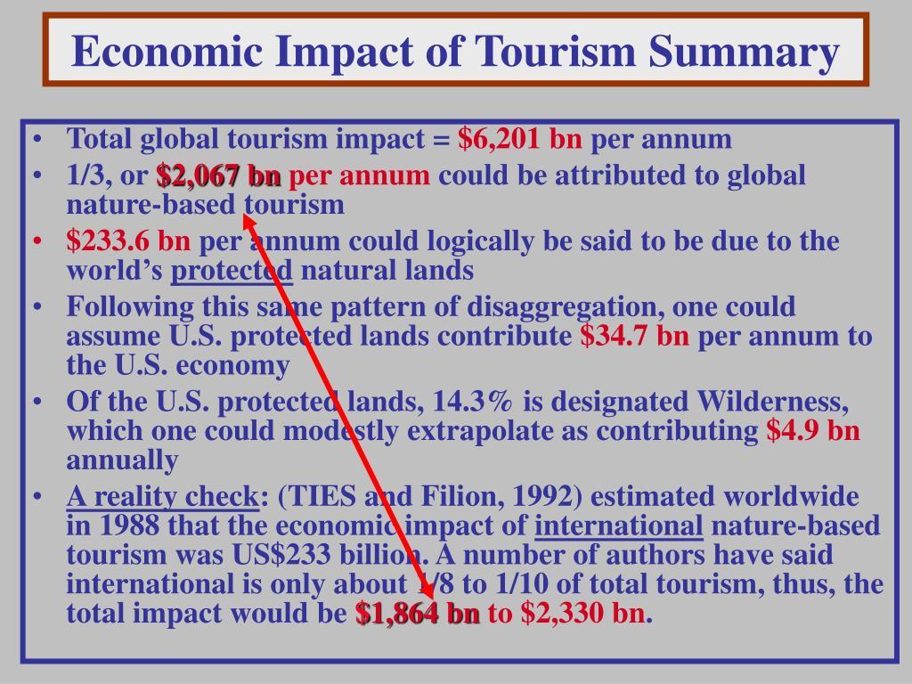Economic Impact of Tourism Summary