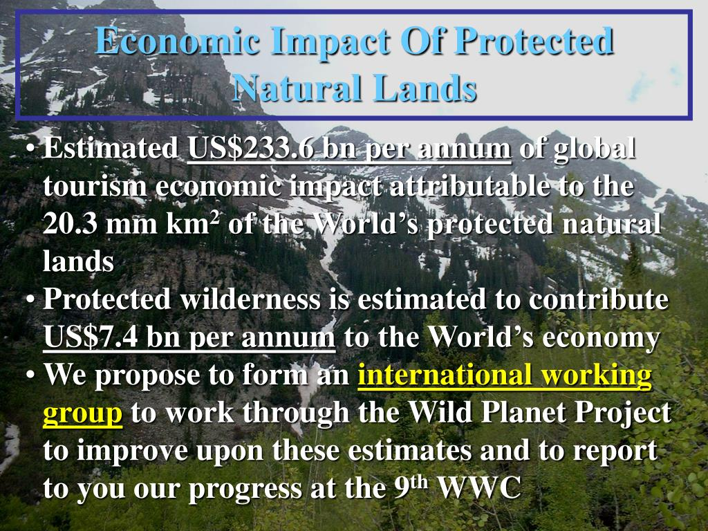 Economic Impact Of Protected Natural Lands