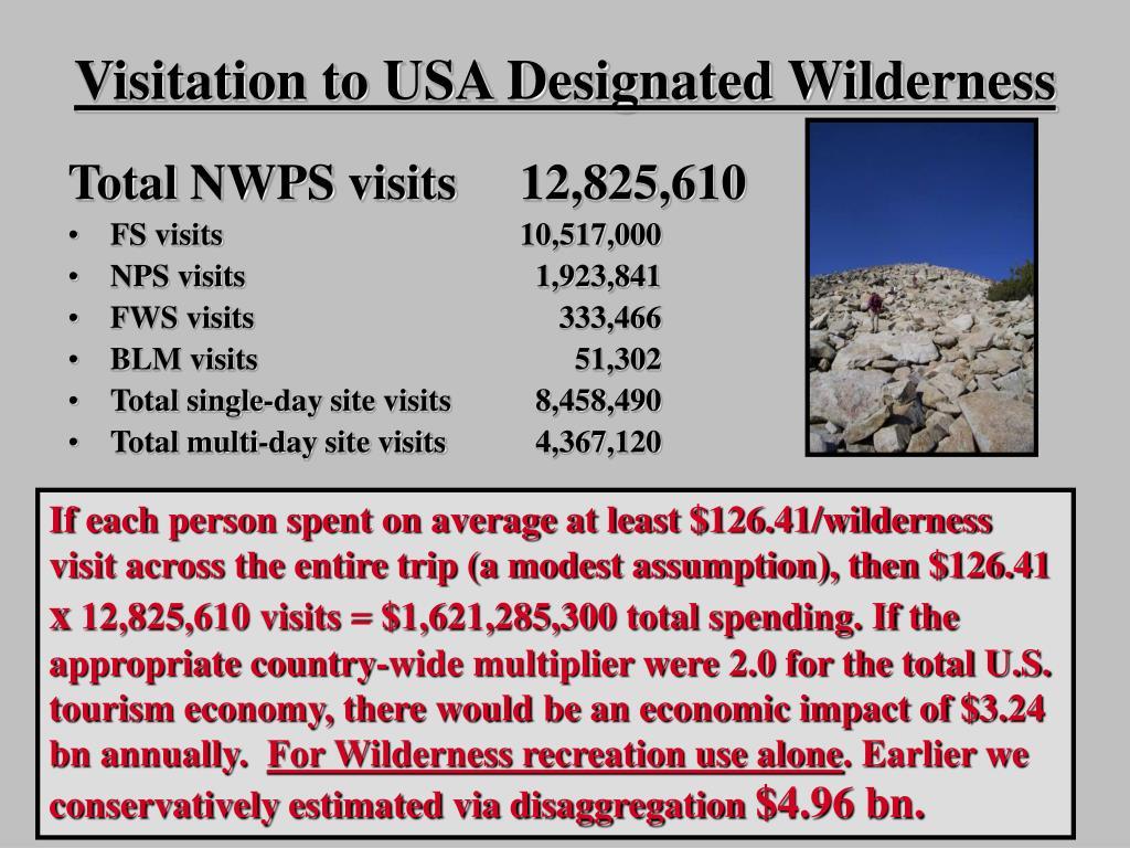 Visitation to USA Designated Wilderness