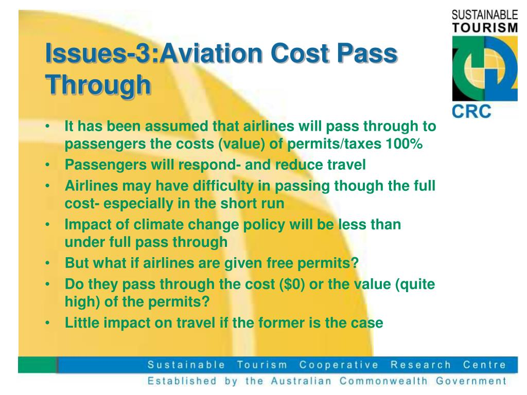 Issues-3:Aviation Cost Pass Through