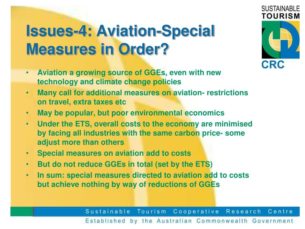 Issues-4: Aviation-Special Measures in Order?