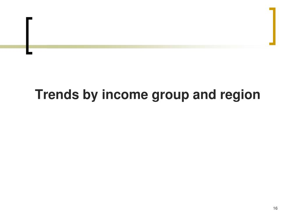 Trends by income group and region