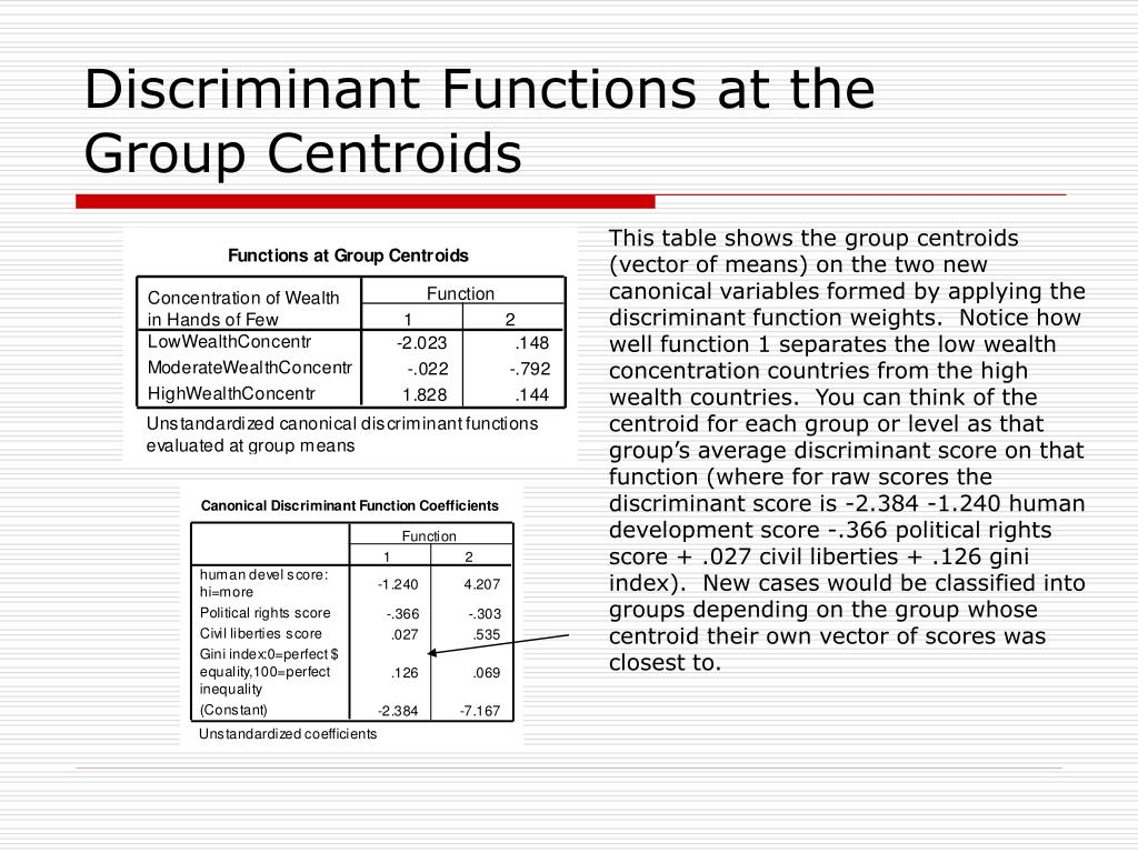 PPT - Discriminant Analysis and Classification PowerPoint ...