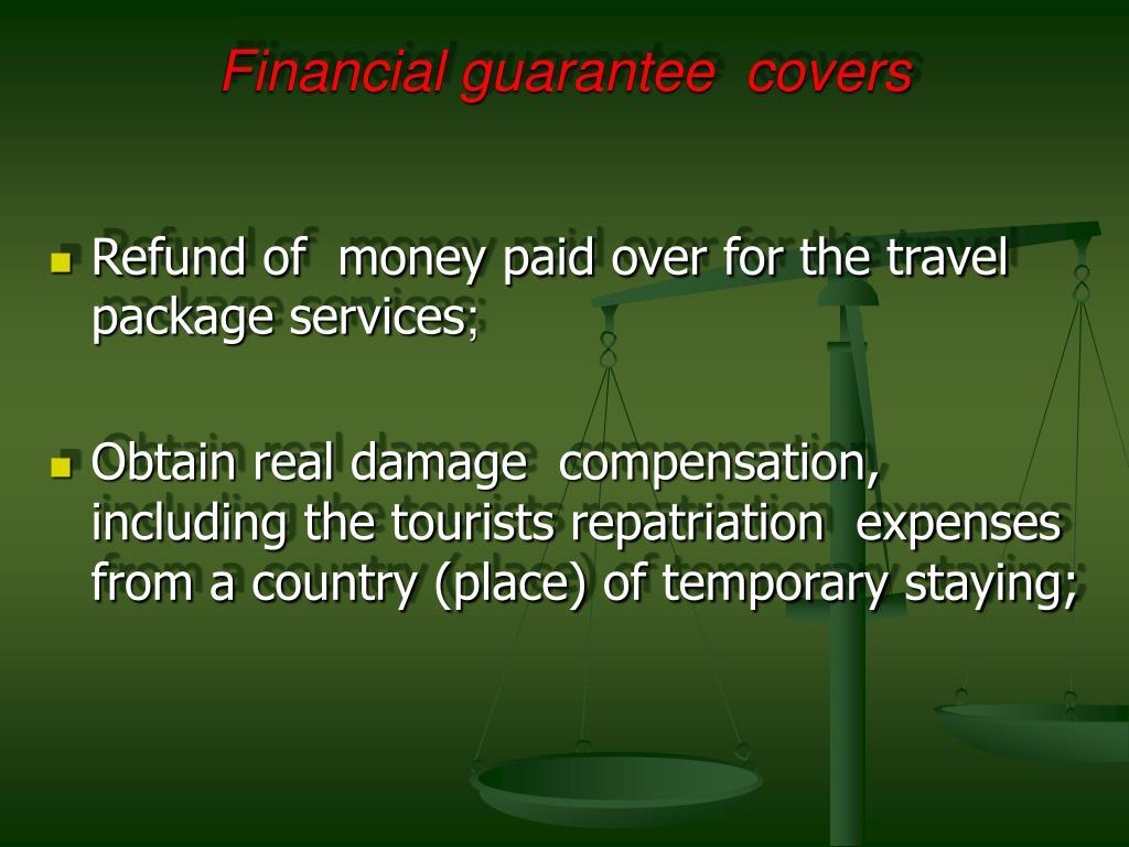 Financial guarantee  covers