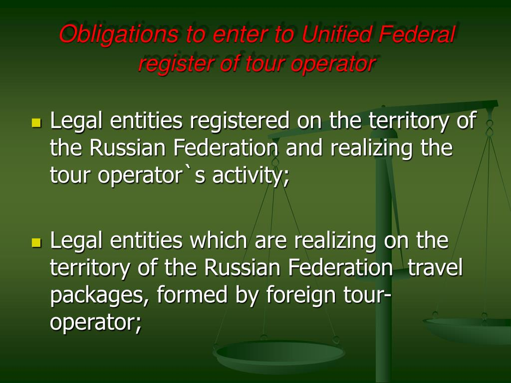 Obligations to enter to