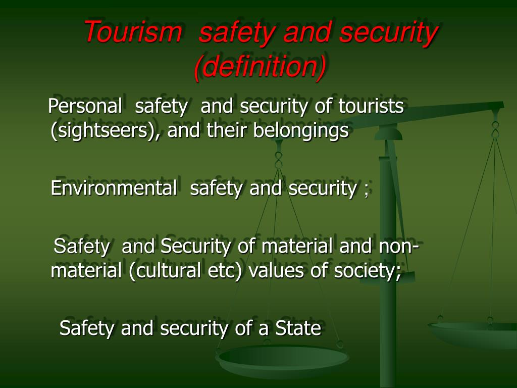 Tourism  safety and security (definition)