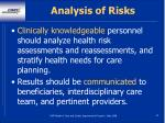 analysis of risks