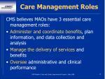 care management roles