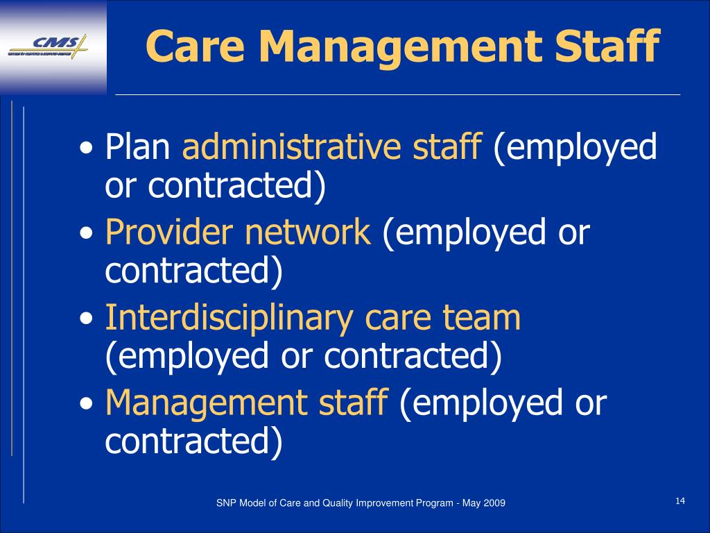 Care Management Staff