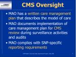 cms oversight