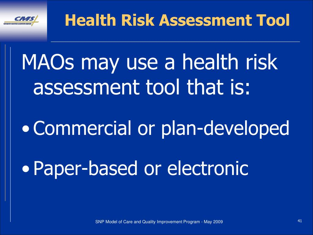 Health Risk Assessment Tool