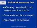 health risk assessment tool