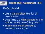 health risk assessment tool42