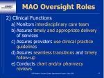mao oversight roles22