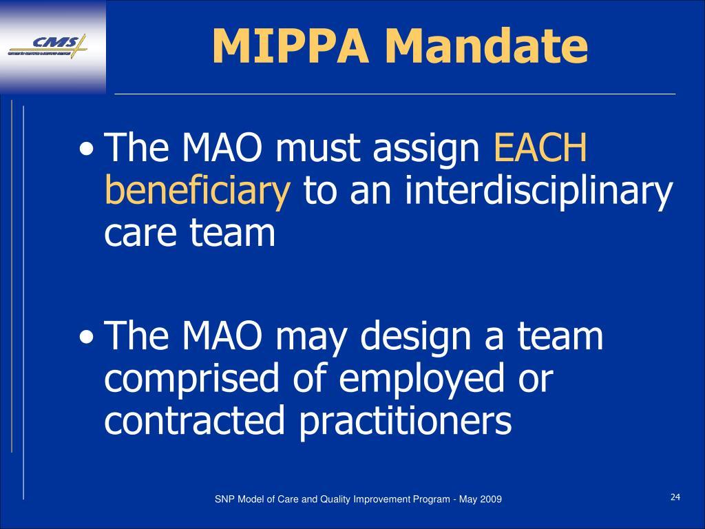 MIPPA Mandate