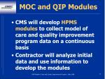moc and qip modules