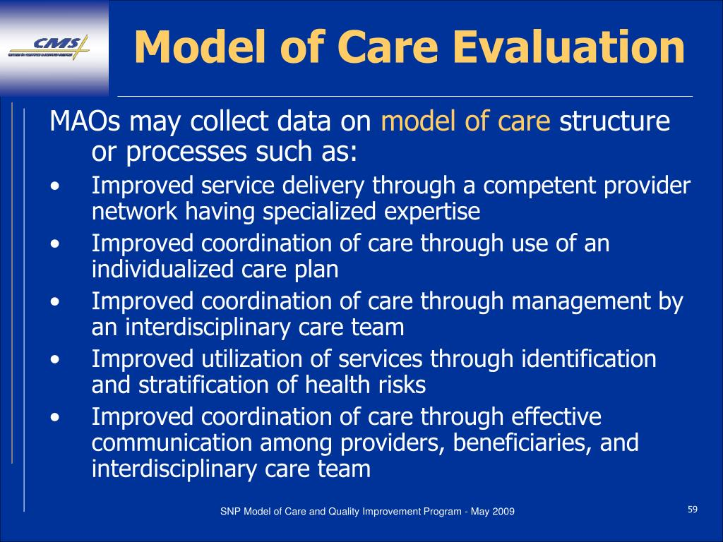 Model of Care Evaluation