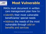 most vulnerable53