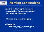 naming conventions84