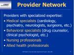 provider network31