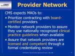 provider network33