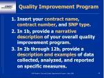 quality improvement program89