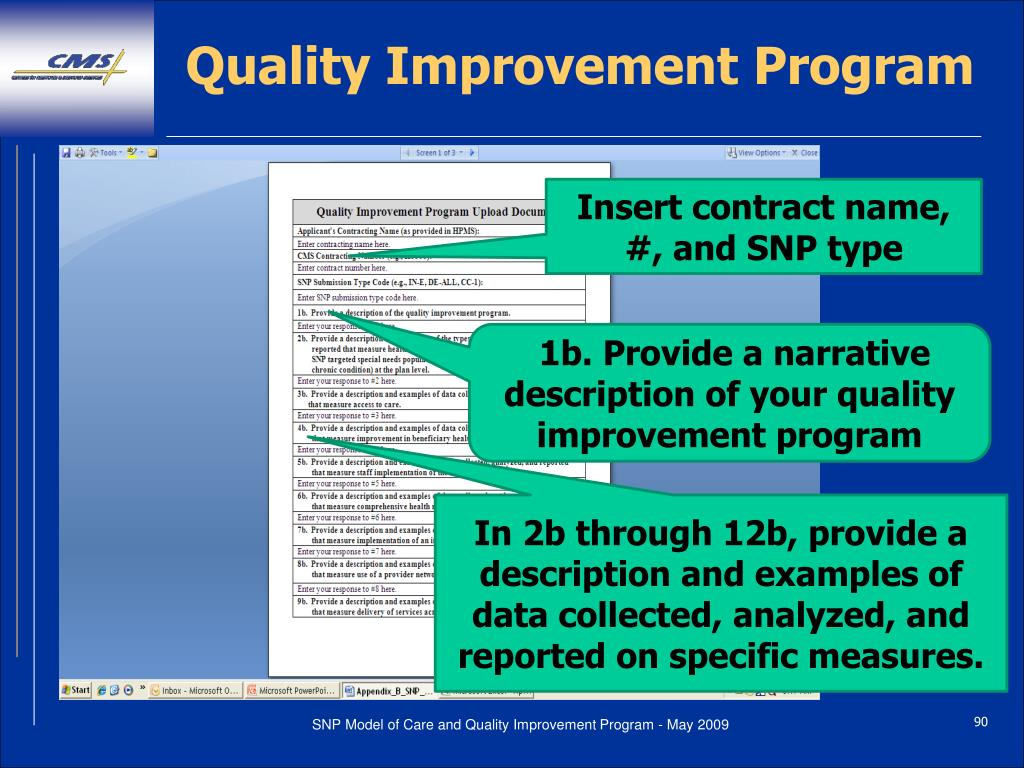 Quality Improvement Program