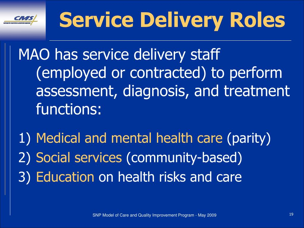 Service Delivery Roles
