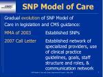 snp model of care5
